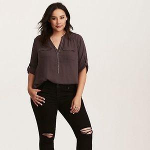 Torrid Half sleeve satin blouse